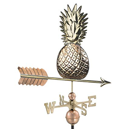 Good Directions Pineapple Weathervane, Pure Copper
