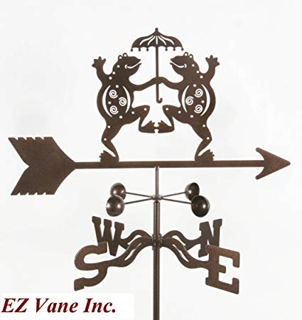 Dancing Frogs Roof Mount Weathervane