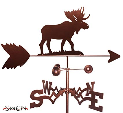 Hand Made MOOSE GARDEN Stake Weathervane ~NEW~
