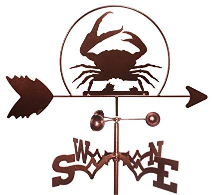 MONTGOMERY INDUSTRIES Crab Weathervane (Roof Mount Included)