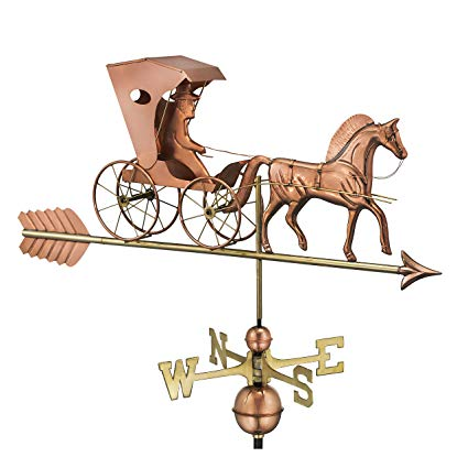 Good Directions Country Doctor Weathervane with Arrow, Pure Copper